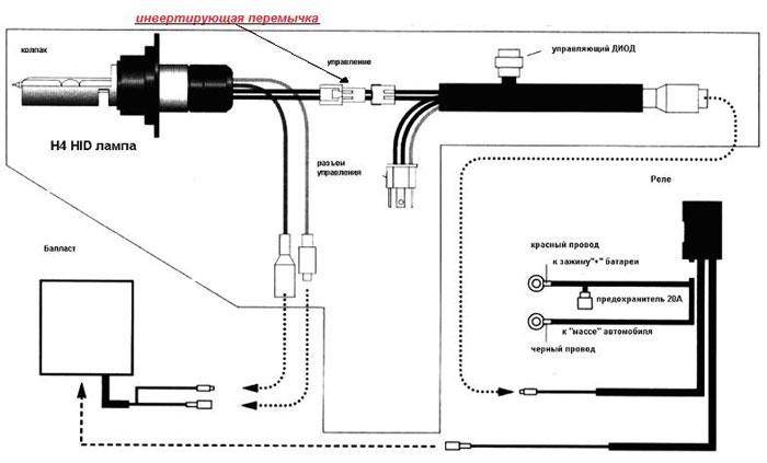 Схема подключения жгута