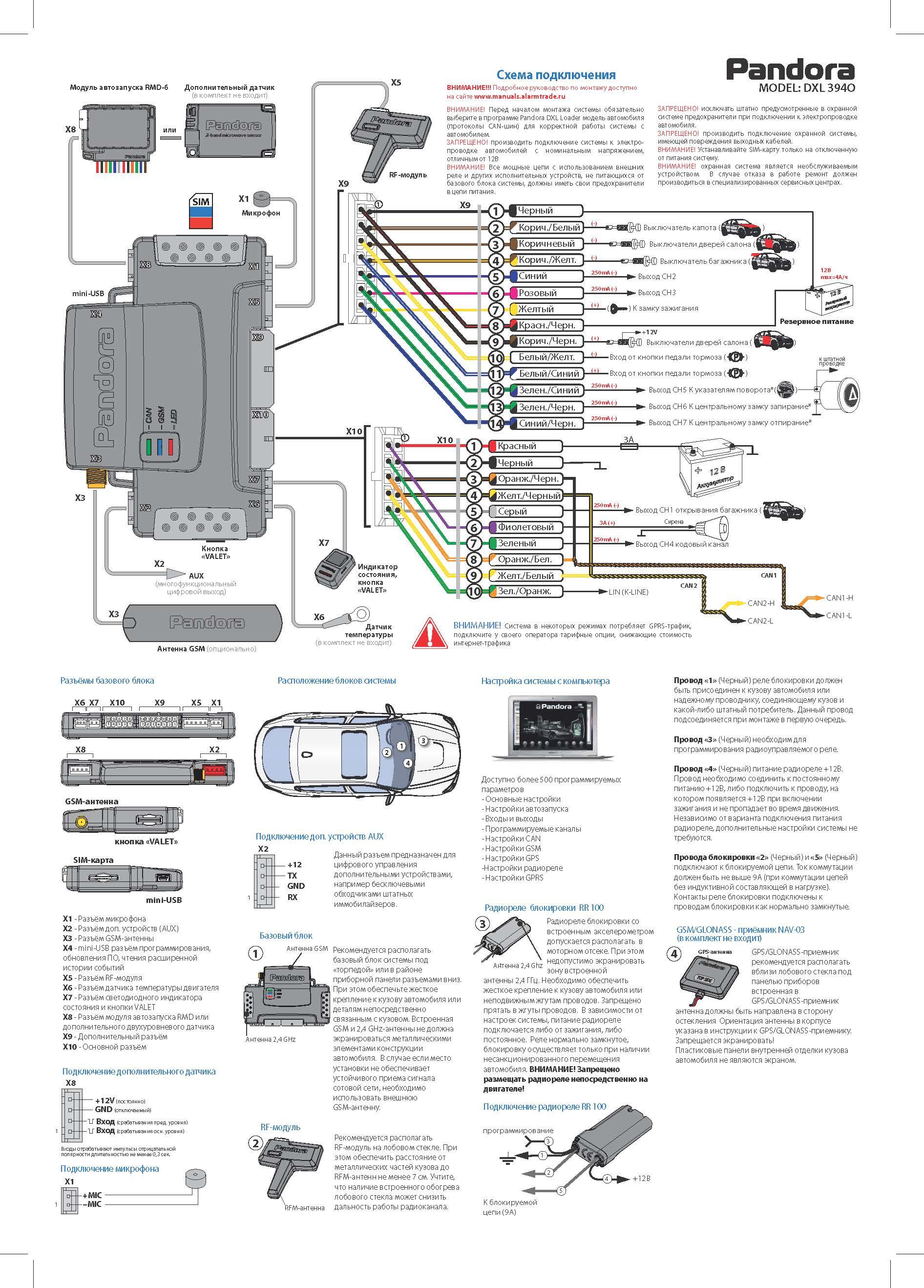 электронная схема автосигнализация аллигатор lx 550