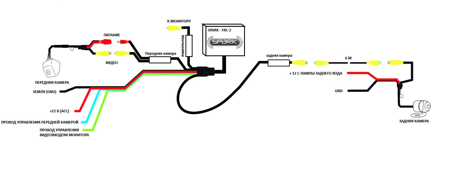 Автомонитор схема подключения