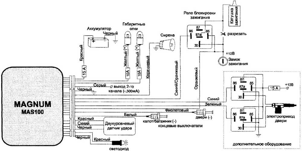 MAS100 - схема подключения