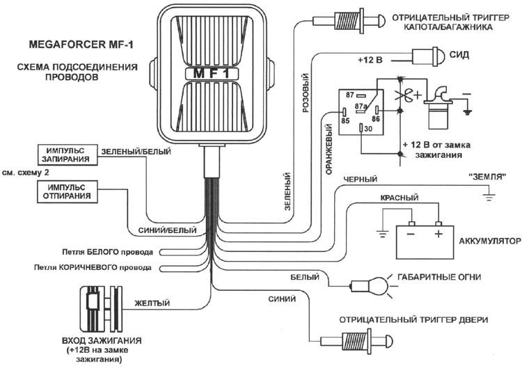 MF-1 - схема подключения