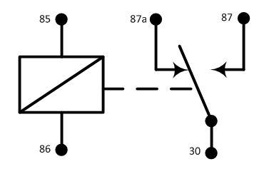 5 контактное реле схема