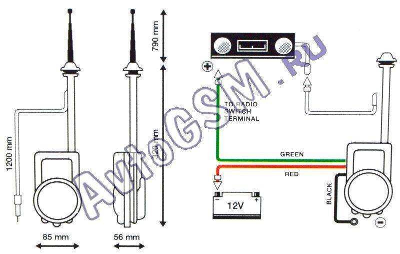 Схема антенны для авто фото 490