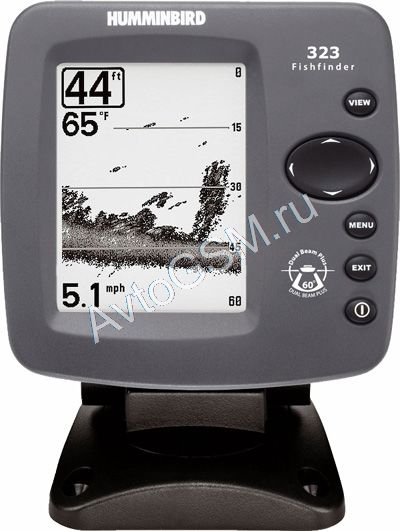 Двухлучевой эхолот Humminbird Fishfinder 323x   с функцией увеличения изображения и информированием о появлении рыбы (артикул 3592)