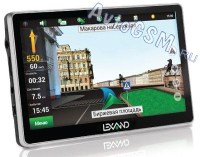 GPS-��������� Lexand STA-5.0 - 5-�������� �������, �� Android 4.0, Wi-Fi, ��������� 3G-�������,  BoxChip A13 1 ���, ����������� ������ - 512 M�, G-������ + ������� ��������� 7 ����� ������
