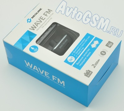 FM-����������� Neoline Wave FM - ������� Hands-Free, ��������� Bluetooth � ������� A2DP, 2 USB-����a, ����� ��, ������� �� ������������� 12/24�, LED-�������, ��������������� ������, ����� �������� (������� 11679)