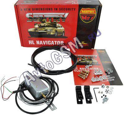 Блокиратор капота Sentry HL Navigator Electro - скрытый монтаж, универсальность установки,  аварийный трос скрытого монтажа