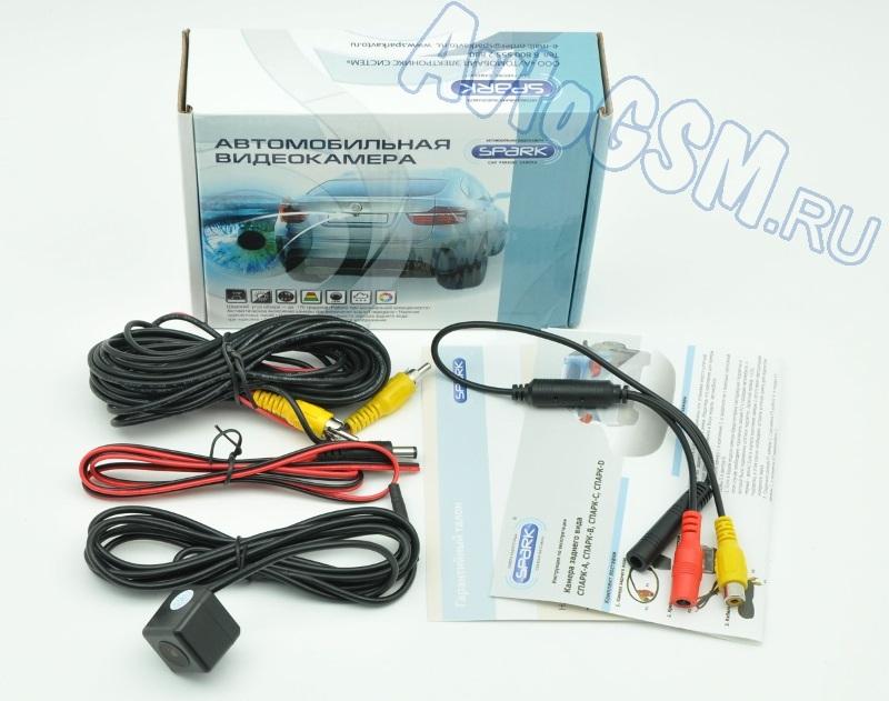 Штатная камера заднего вида с парковочными линиями Спарк (Spark) тип D T3 для TOYOTA (Corolla, Vios, Altis) - герметичный корпус